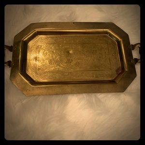 Brass Tray etched art